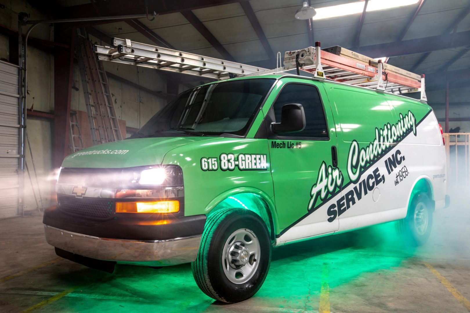 HVAC Experts in the Green Trucks for Nashville HVAC Install, HVAC Repair, and Duct Cleaning